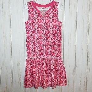 Tea pink pattern dress